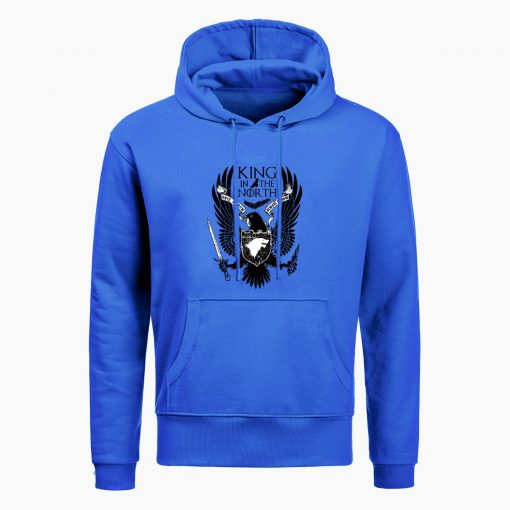 Game Of Thrones Hoodies House Stark King In The North Print Hoodie Sweatshirt Men Hip Hop 4