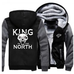 Game Of Thrones Hoodies Men House Stark King In The North Thicken Jacket Hoodie Men Casual 1