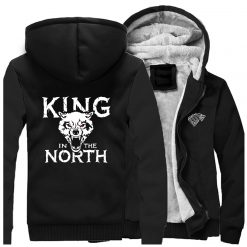 Game Of Thrones Hoodies Men House Stark King In The North Thicken Jacket Hoodie Men Casual