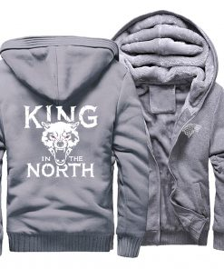 Game Of Thrones Hoodies Men House Stark King In The North Thicken Jacket Hoodie Men Casual 3