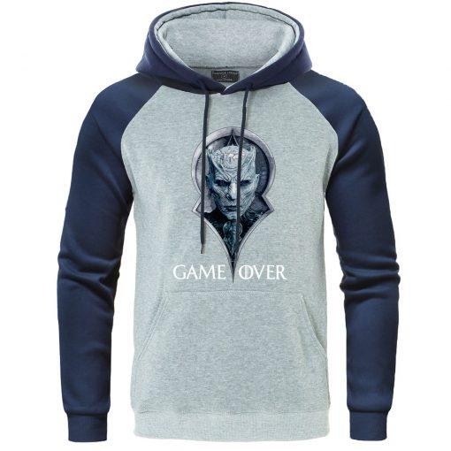 Game Of Thrones Hoodies Night King Print Pullover Autumn Warm Raglan Sweatshirts Men Casual Men s 1