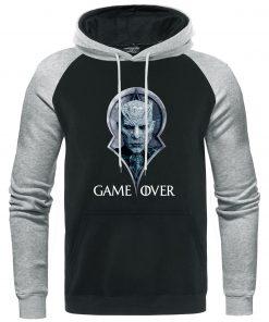 Game Of Thrones Hoodies Night King Print Pullover Autumn Warm Raglan Sweatshirts Men Casual Men s 2