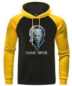 Game Of Thrones Hoodies Night King Print Pullover Autumn Warm Raglan Sweatshirts Men Casual Men s 3