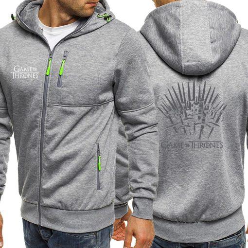Game Of Thrones Hoodies Sweatshirt Men Casual Jacket Zipper Autumn Hot Sale Hooded Vintage Print Sportswear 1