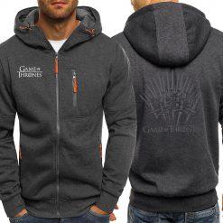 Game Of Thrones Hoodies Sweatshirt Men Casual Jacket Zipper Autumn Hot Sale Hooded Vintage Print Sportswear 2