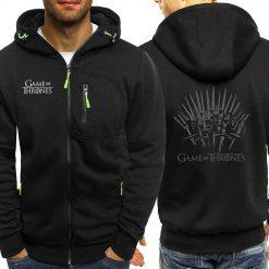 Game Of Thrones Hoodies Sweatshirt Men Casual Jacket Zipper Autumn Hot Sale Hooded Vintage Print Sportswear