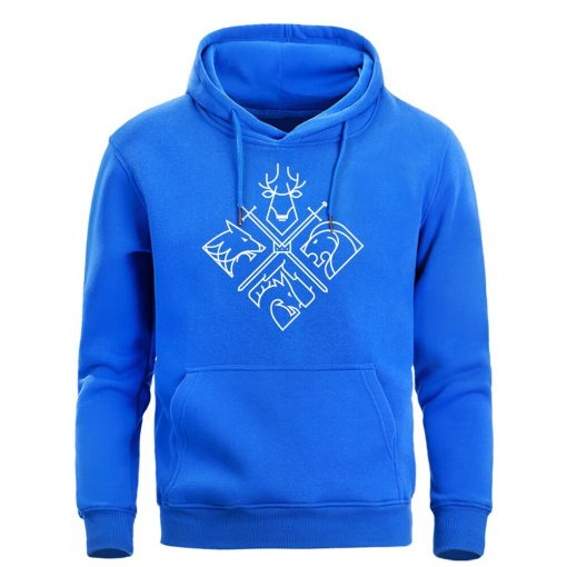 Game Of Thrones Hoodies Sweatshirts Men House Stark Targaryen Wolf Lion Dragon Men S Hoodie 2019 2
