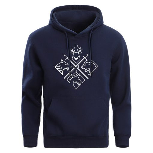 Game Of Thrones Hoodies Sweatshirts Men House Stark Targaryen Wolf Lion Dragon Men S Hoodie 2019 3