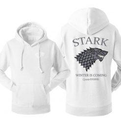 Game Of Thrones House Stark Men s Hoodies Sweatshirt Wolf Tracksuit Fleece Winter Is Coming Hooded 1