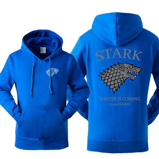Game Of Thrones House Stark Men s Hoodies Sweatshirt Wolf Tracksuit Fleece Winter Is Coming Hooded 2