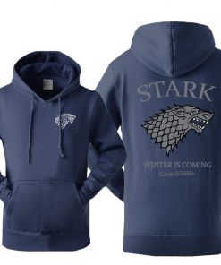Game Of Thrones House Stark Men s Hoodies Sweatshirt Wolf Tracksuit Fleece Winter Is Coming Hooded