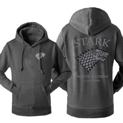 Game Of Thrones House Stark Men s Hoodies Sweatshirt Wolf Tracksuit Fleece Winter Is Coming Hooded 4