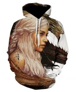 Game Of Thrones House Stark Targaryen Lannister Raglan Hoodies Men 2019 Night King Dragon Jackets Men 5