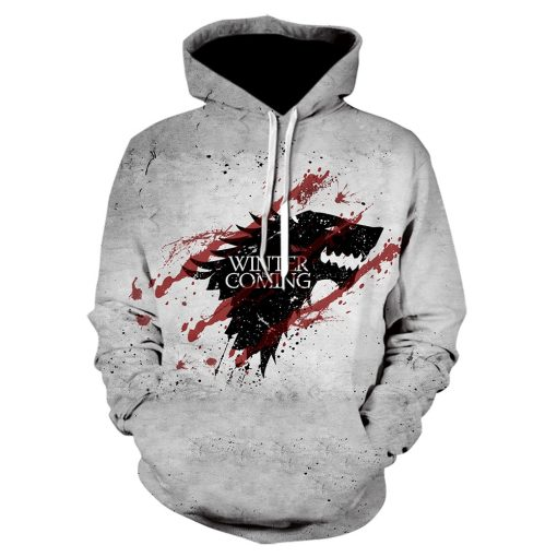 Game Of Thrones House Stark Targaryen Lannister Raglan Hoodies Men 2019 Night King Dragon Jackets Men