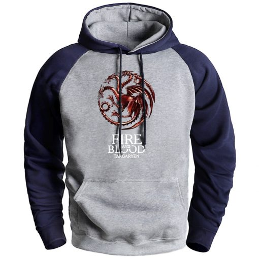Game Of Thrones House Targaryen Sweatshirt Hoodies 2020 New Arrival Sportswear Hooded Pullover Winter Fleece Raglan