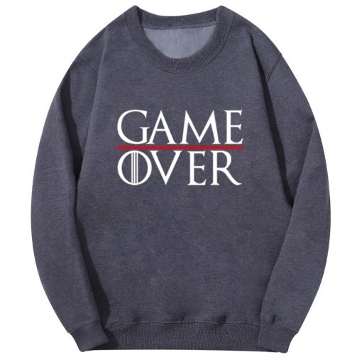 Game Of Thrones Men Hoodies Tv Show Not Today Game Over Hiphop Fashion Sweatshirt Wolf Cool 1