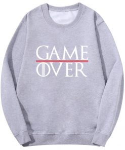 Game Of Thrones Men Hoodies Tv Show Not Today Game Over Hiphop Fashion Sweatshirt Wolf Cool 2