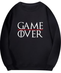 Game Of Thrones Men Hoodies Tv Show Not Today Game Over Hiphop Fashion Sweatshirt Wolf Cool