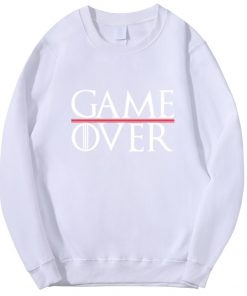 Game Of Thrones Men Hoodies Tv Show Not Today Game Over Hiphop Fashion Sweatshirt Wolf Cool 3
