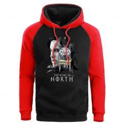Game Of Thrones Men Jonesnow Hoodie Sweatshirt Male Hoodies Winter Fleece Sweatshirts King In The North 1