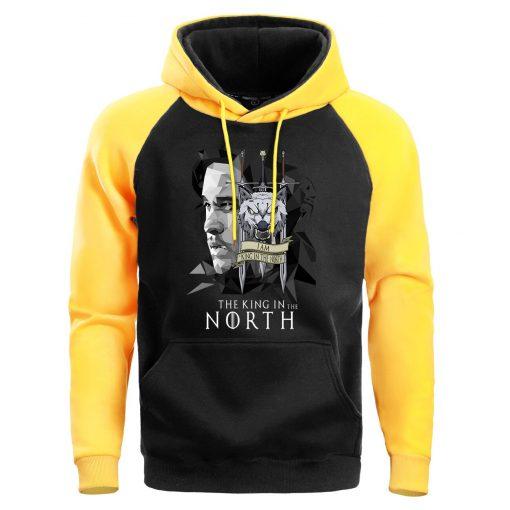 Game Of Thrones Men Jonesnow Hoodie Sweatshirt Male Hoodies Winter Fleece Sweatshirts King In The North 2