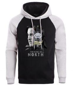 Game Of Thrones Men Jonesnow Hoodie Sweatshirt Male Hoodies Winter Fleece Sweatshirts King In The North