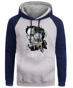Game Of Thrones Men Jonesnow Hoodie Sweatshirt Male Hoodies Winter Fleece Sweatshirts King In The North 3