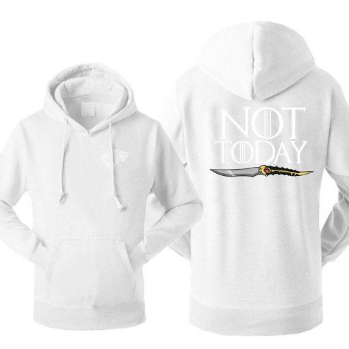Game Of Thrones Men s Arya Stark Hoodies Sweatshirt Not Today Tracksuit Fleece Hooded Streetwear Sportswear 1