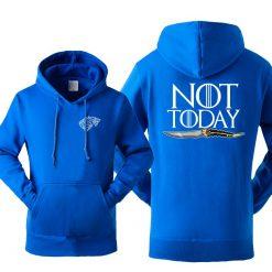 Game Of Thrones Men s Arya Stark Hoodies Sweatshirt Not Today Tracksuit Fleece Hooded Streetwear Sportswear 2