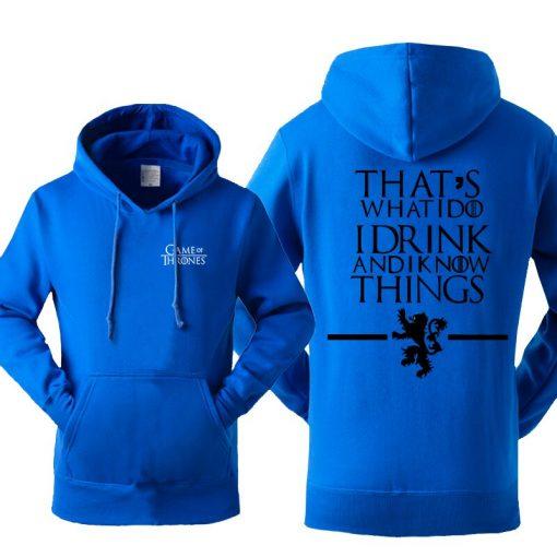 Game Of Thrones Men s Hoodies Sweatshirt House Stark Jon Snow Tracksuit Fleece Hooded Streetwear Sportswear 1
