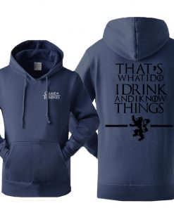 Game Of Thrones Men s Hoodies Sweatshirt House Stark Jon Snow Tracksuit Fleece Hooded Streetwear Sportswear 2