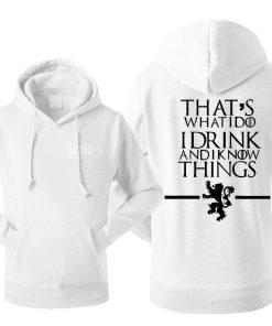 Game Of Thrones Men s Hoodies Sweatshirt House Stark Jon Snow Tracksuit Fleece Hooded Streetwear Sportswear