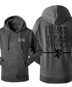 Game Of Thrones Men s Hoodies Sweatshirt House Stark Jon Snow Tracksuit Fleece Hooded Streetwear Sportswear 4