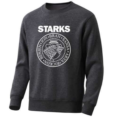 Game Of Thrones Mens Hoodies Sweatshirts House Starks Men S Hoodie Leisure Pullover Streetwear Popular Wolf 1