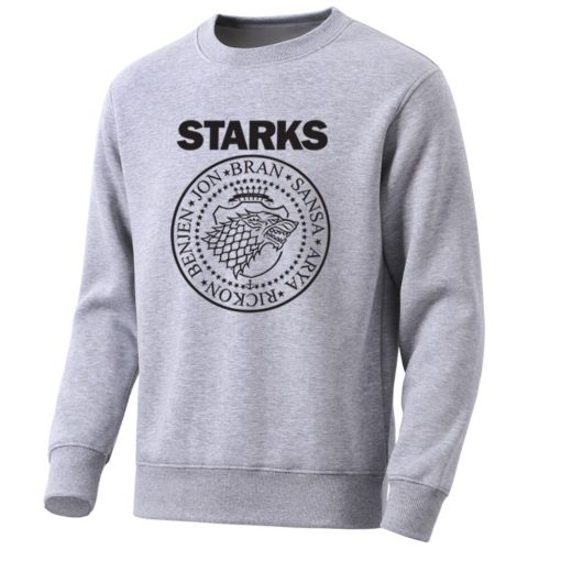 Game Of Thrones Mens Hoodies Sweatshirts House Starks Men S Hoodie Leisure Pullover Streetwear Popular Wolf 3