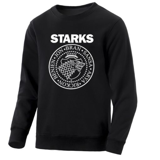 Game Of Thrones Mens Hoodies Sweatshirts House Starks Men S Hoodie Leisure Pullover Streetwear Popular Wolf