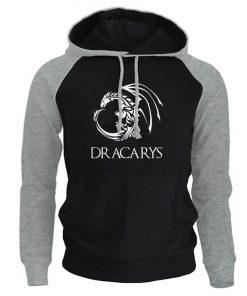 Game Of Thrones Pullover Man Casual Hoodie Harajuku Casual Streetwear Printed Dracarys Dragon Raglan Tracksuit Men