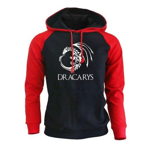 Game Of Thrones Pullover Man Casual Hoodie Harajuku Casual Streetwear Printed Dracarys Dragon Raglan Tracksuit Men 3