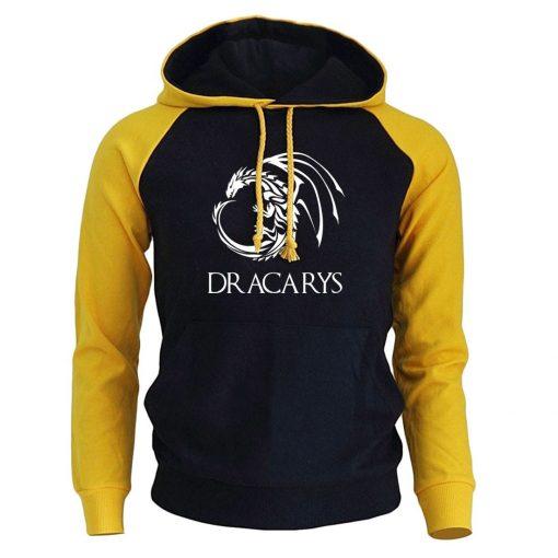 Game Of Thrones Pullover Man Casual Hoodie Harajuku Casual Streetwear Printed Dracarys Dragon Raglan Tracksuit Men 4
