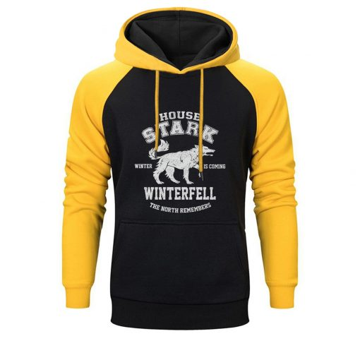 Game Of Thrones Raglan Hoodies Men House Stark The Song Of Ice And Fire Winter Is 1