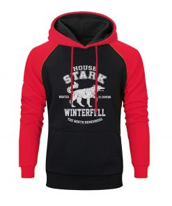 Game Of Thrones Raglan Hoodies Men House Stark The Song Of Ice And Fire Winter Is 3