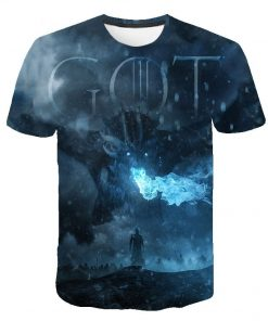 Game Of Thrones T Shirt Stark T Shirt 2019 New Tshirt Night King Dragon Mother T