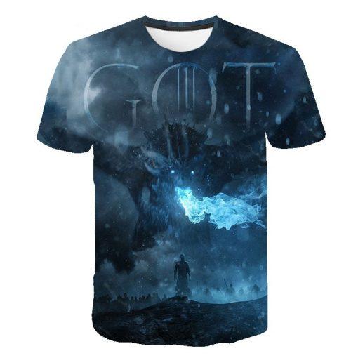 Game Of Thrones T Shirt Stark T Shirt 2019 New Tshirt Night King Dragon Mother T