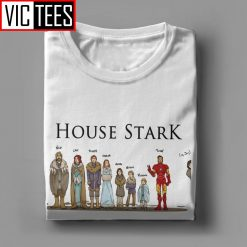 Game Of Thrones T Shirts House Stark Family Members Winterfell Men T Shirt Hipster Cotton Short 2
