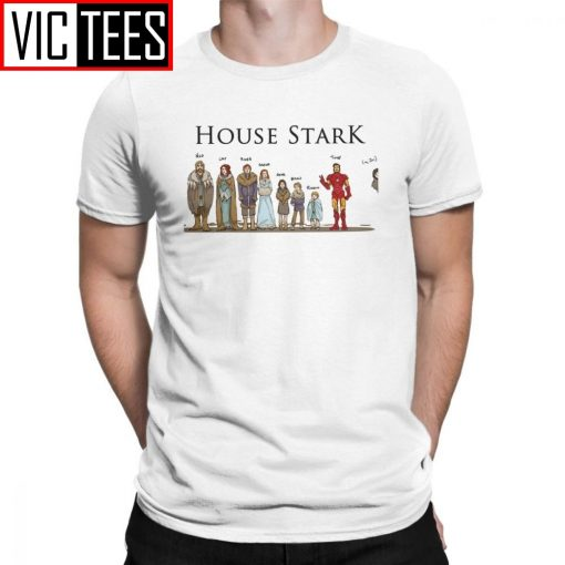 Game Of Thrones T Shirts House Stark Family Members Winterfell Men T Shirt Hipster Cotton Short