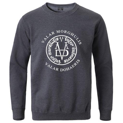 Game Of Thrones Winter Sweatshirt for Man 2020 Male Valar Morghulis Valar Dohaeris Hoodie Streetwear Fashion