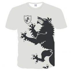 Game Of Thrones t shirt Four House House Stark Targaryen Lannister t shirt Man s Beach