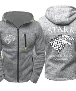 Game of Thrones Cosplay Stark Hoodie Zip Up Sweatshirts Men Women Print Winter Is Coming Hoodie 1