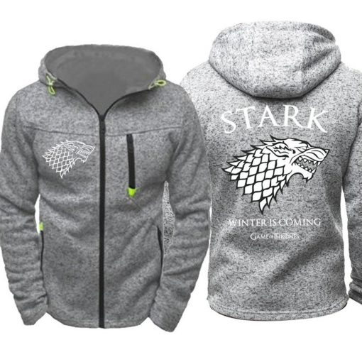 Game of Thrones Cosplay Stark Hoodie Zip Up Sweatshirts Men Women Print Winter Is Coming Hoodie 2