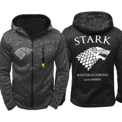 Game of Thrones Cosplay Stark Hoodie Zip Up Sweatshirts Men Women Print Winter Is Coming Hoodie 3